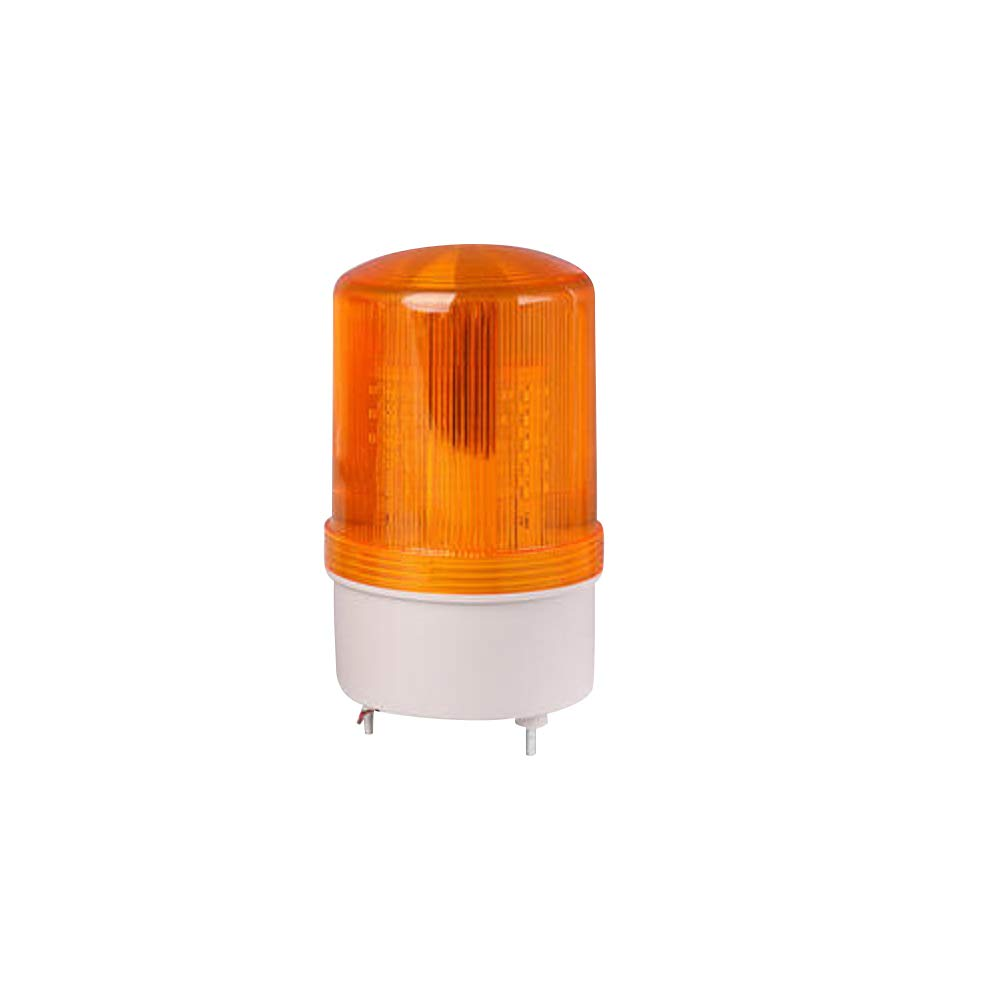 Othmro LTE1101 Warning Light- 24V 10W Yellow Flashing Signal Lamp Industrial Warning Light Strobe Light 1Piece No Buzzer Good for Everywhere You Need to Warning