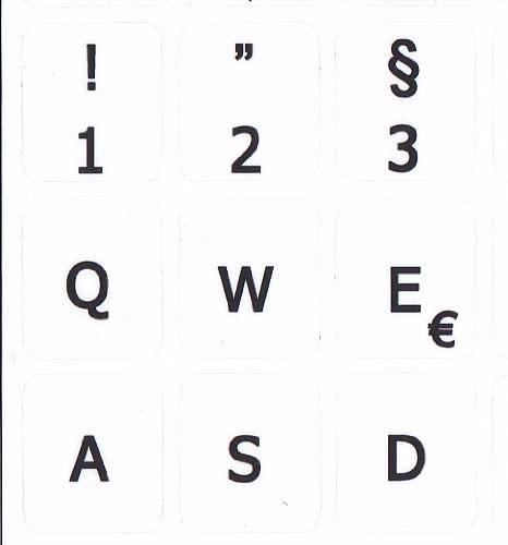 MAC German Keyboard Sticker Non Transparent White for Macintosh Computer