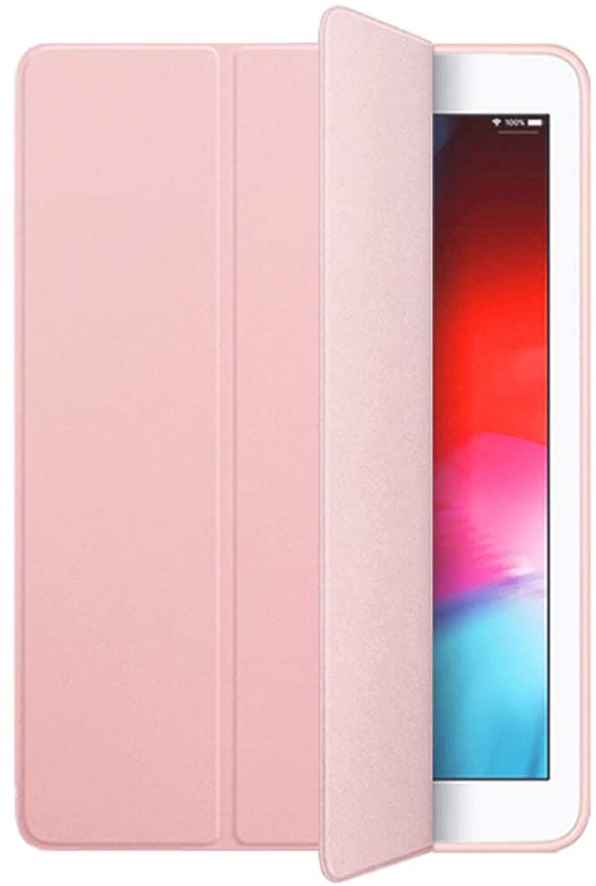 iPad Mini 5th Generation 2019 Case, Smart Cover Trifold Stand Soft Back Cover for iPad Mini 5 2019 [Auto Sleep/Wake] (Rose Gold)