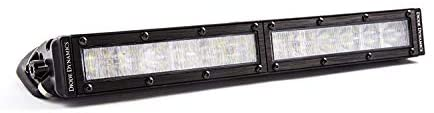 Diode Dynamics DD5023S 12 Inch LED Light Bar Single Row Straight Clear Wide Each Stage Series