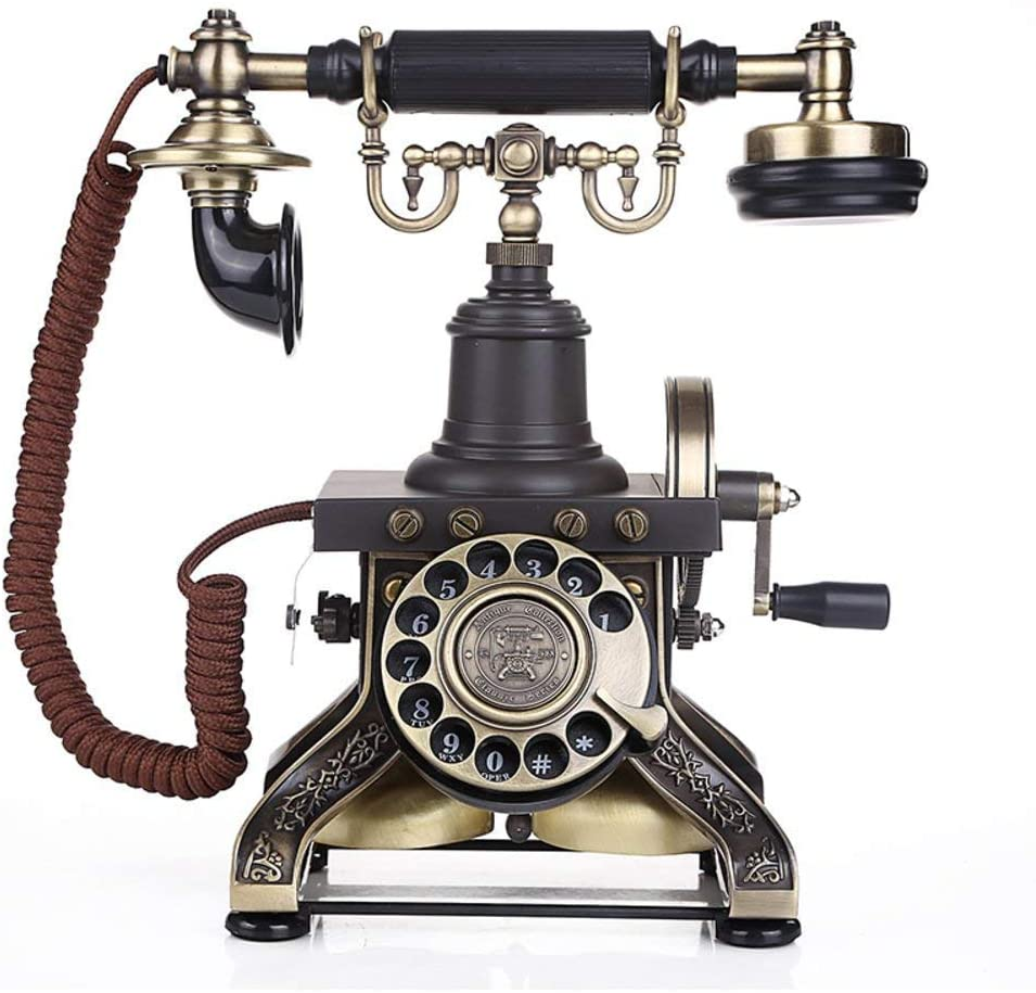 LKK-KK Antique Solid-Wood Telephone in European Style with A-Wire