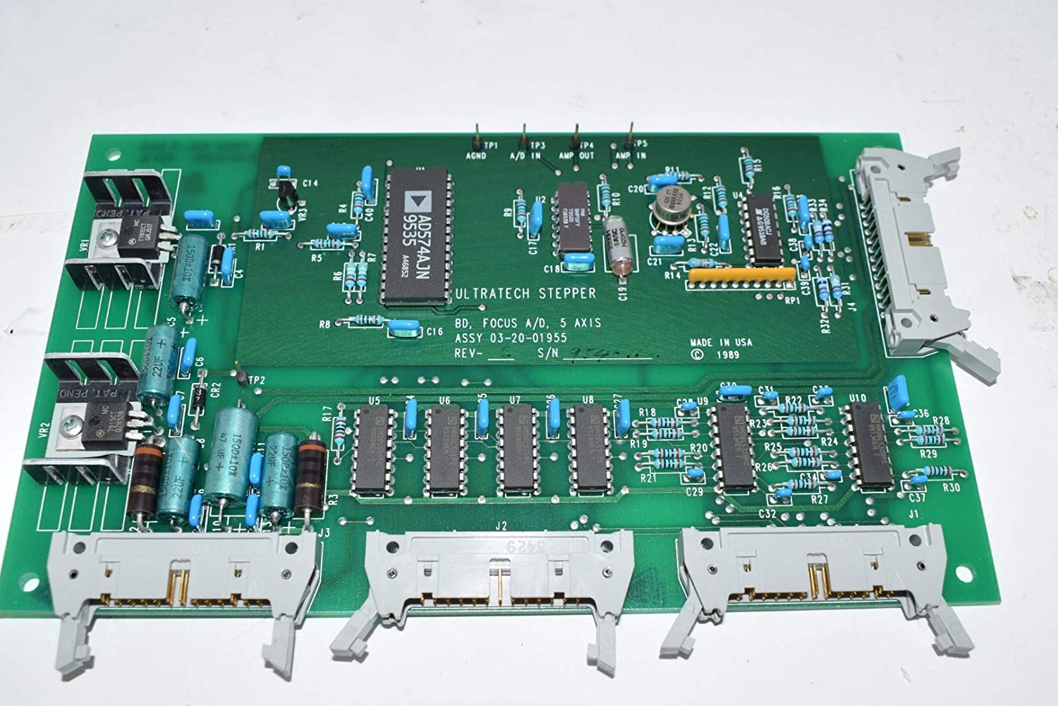Ultratech Stepper 03-20-01955 Focus A/D 5 Axis PCB Assembly Rev. C 2244i