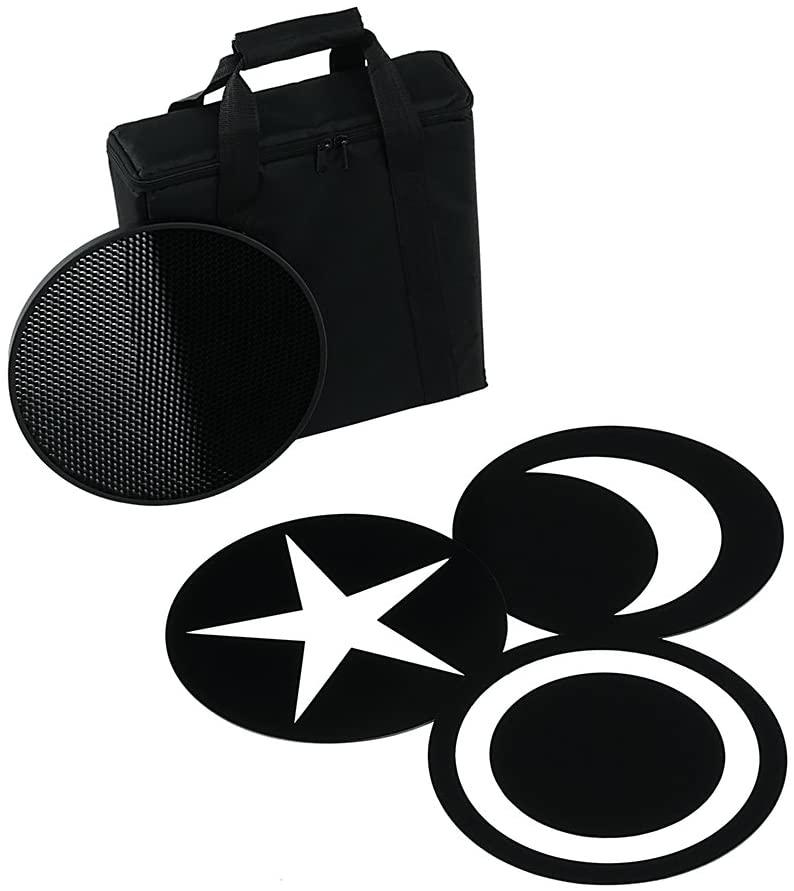 Fotodiox Pro Factor Jupitor12 Accessory Pack - Grid, 3X Creative Masks and Carrying Case for Factor Jupiter12 VR-1200ASVL Studio Light
