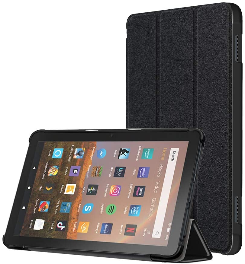 Tablet Case, Compatible with Kindle Fire HD 8 and Fire HD 8 Plus Cover(10th Generation 2020 Release), Flexible TPU Translucent Back Shell Ultra Slim Lightweight with Auto Sleep/Wake