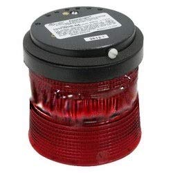 EDWARDS 101SINHR-N5 RED, 120VAC, Steady-ON, Stackable, Beacon, Stack Light