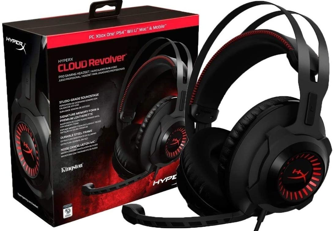 HyperX HX-HSCR-BKRC Cloud Revolver Gaming Headset, Black (Refurbished)