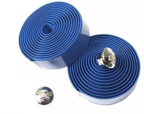Huh-CBJD, Useful Cycling Handle Belt Bike Bicycle Cork Handlebar Tape Wrap +2 Bar Plug Cycling Accessories (Color : Blue)