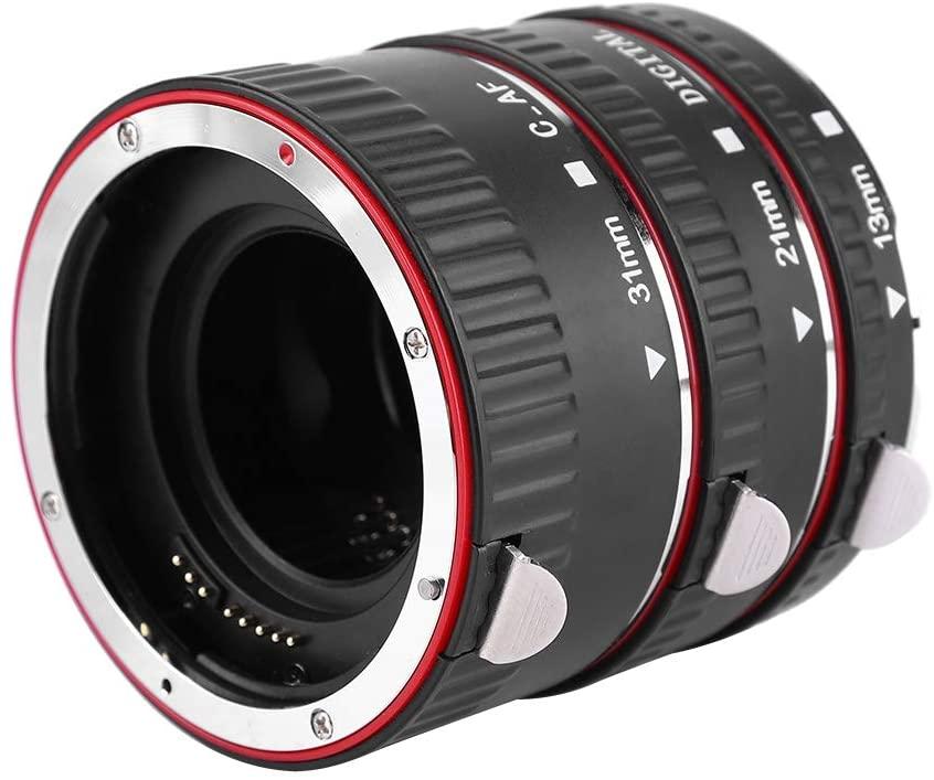 Bindpo Lens Extension Tube Set,Automatic Auto Focus 31mm+21mm+13mm Macro Extension Tube Set for Canon EF/EF-S Camera,Higher Magnification Close up Mount Lens