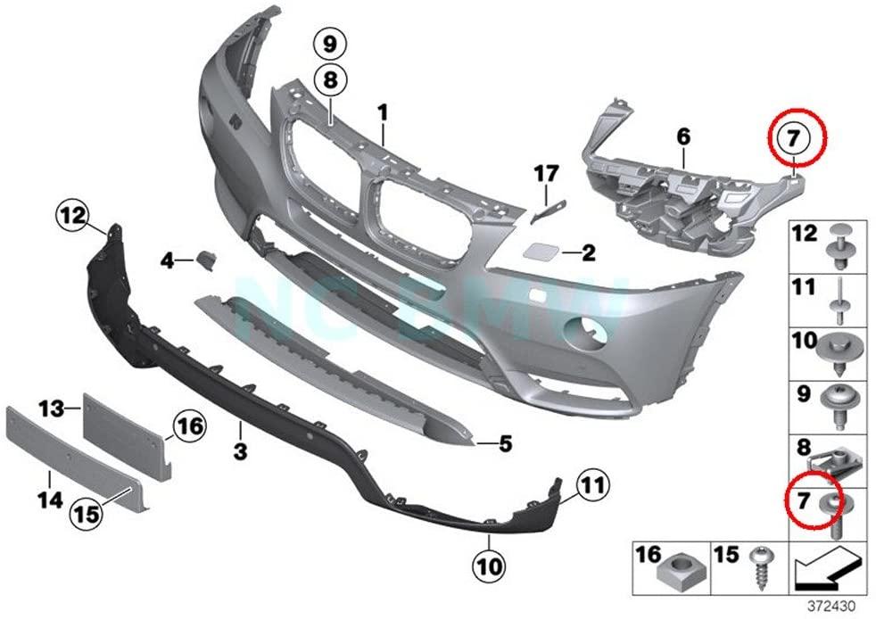 BMW Genuine Oval-Head Screw with Anti-Rotation Lock