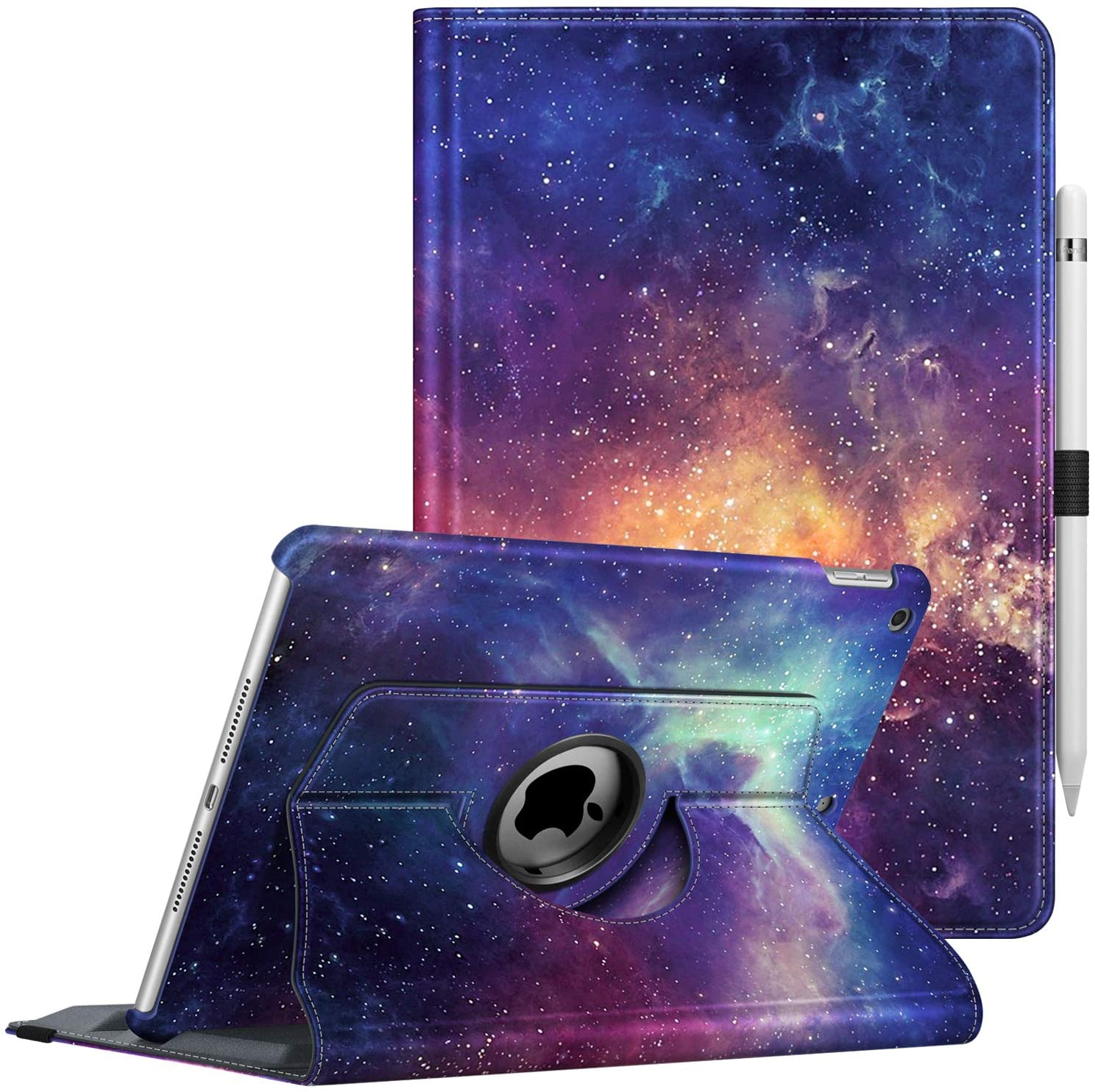 Fintie Case for iPad 7th Generation 10.2 Inch 2019-360 Degree Rotating Smart Stand Protective Back Cover, Supports Auto Wake/Sleep for iPad 10.2