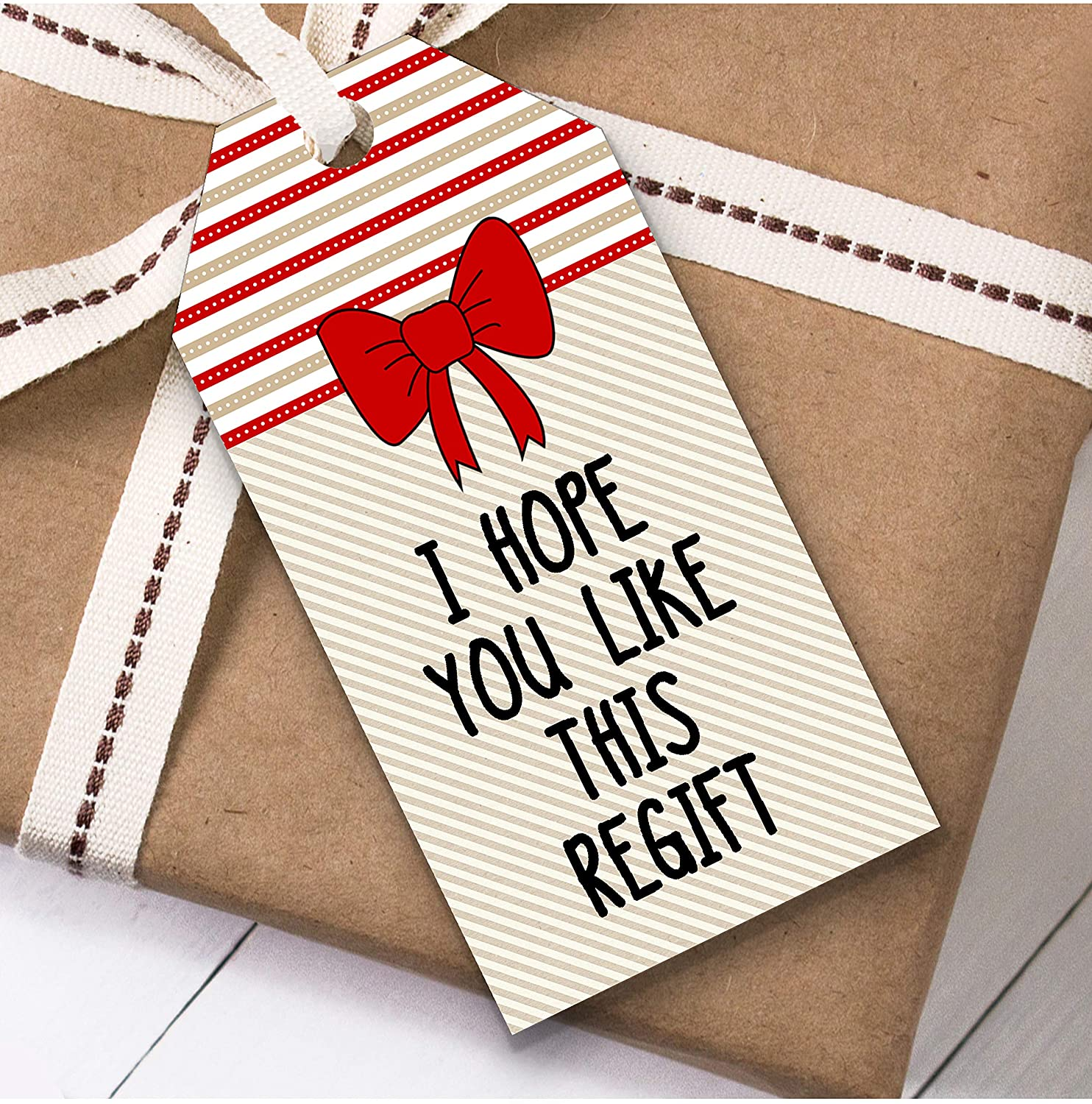 Funny Like This Regift Christmas Gift Tags (Present Favor Labels)