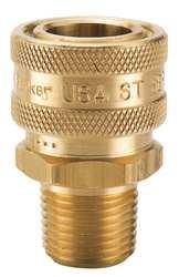 Parker BST-4M High Flow Hyd Quick Coupler 1/2 NPT Male Brass