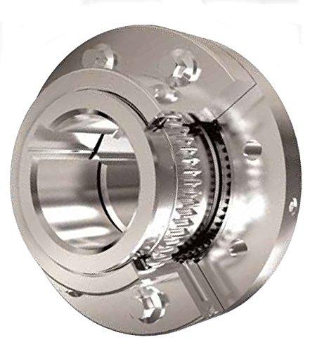 Lovejoy 69790436751 Steel Hercuflex FXL Series M 2SM Gear Coupling, 0.375 x 0.75 Keyway, 6.25 Length Through Bore, 2.8125 Bore, 8.38 OD, 8.38 Overall Length, 39000 in-Lbs Maximum Torque