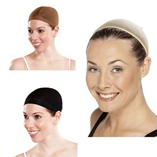 N/V Stretchable Wig Hair Control Net Cap Mesh Stocking For Fancy Party Costume Dress Breathable Hairnets Black