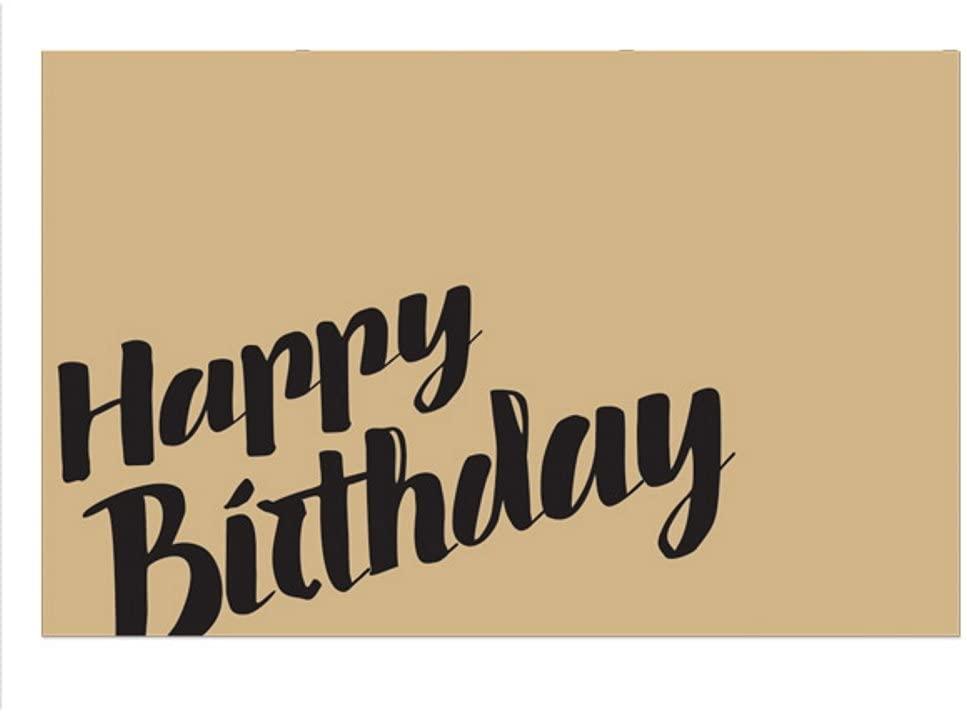 Happy Birthday Kraft Enclosure Cards / Gift Tags - 3 1/2 x 2 1/4 (100)