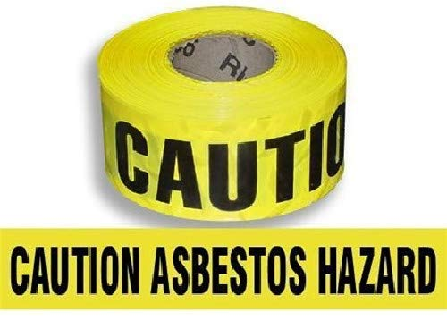 Harris Industries, Inc. BT-3-1000-6mil 3in x 1000ft Caution Asbestos Hazard Barricade Tape