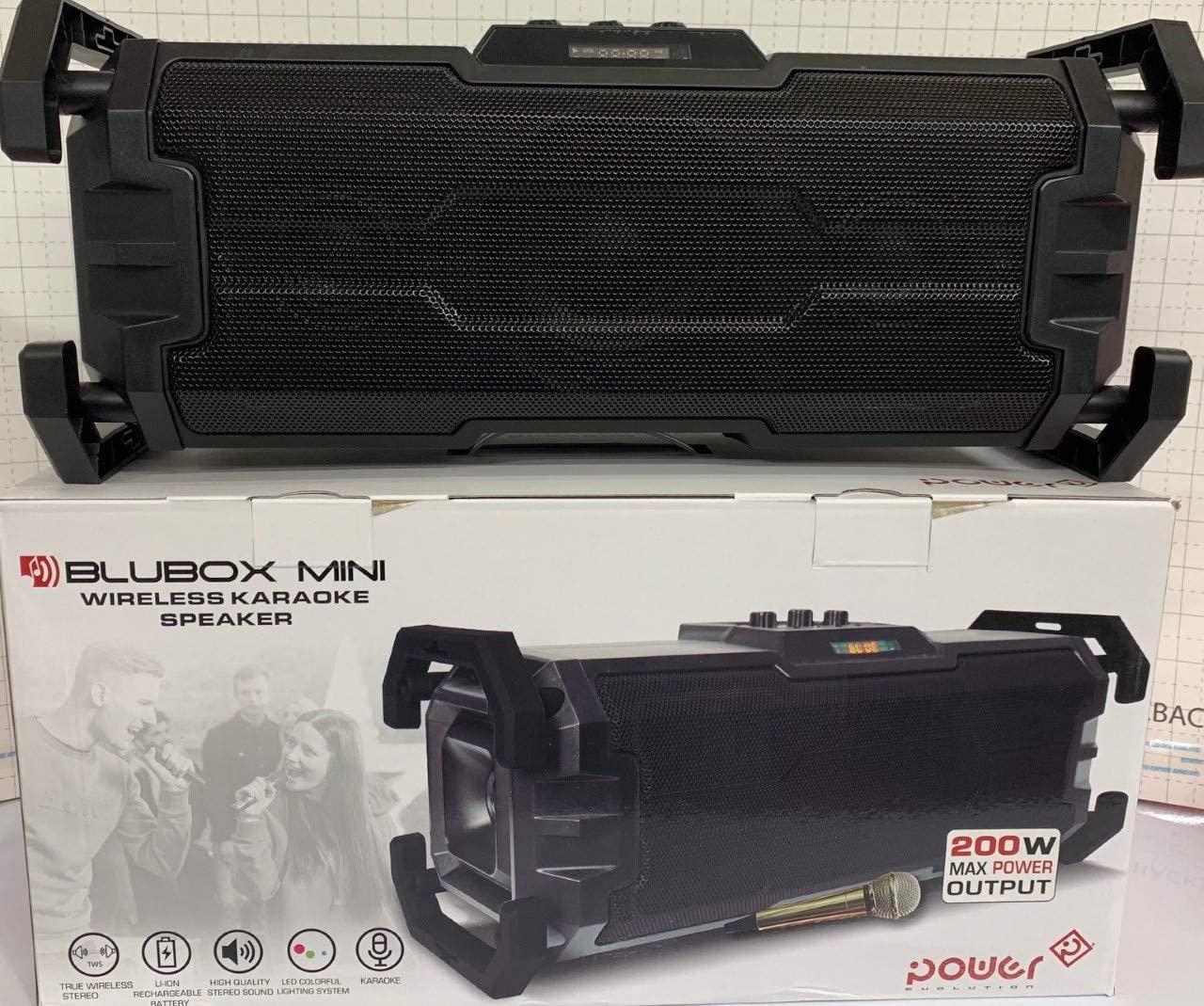 Power Blubox Mini Wireless Karaoke Speaker-Black