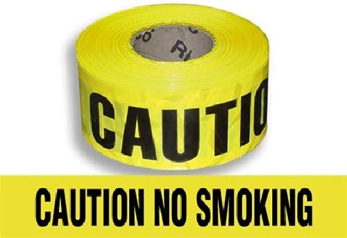 Harris Industries, Inc. BT-17-500-6mil 3in x 500ft Caution No Smoking Barricade Tape