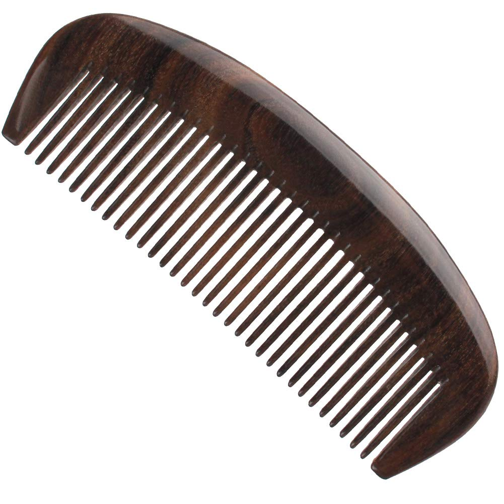 Handmade 100% Natural CHACATE PRETO Wooden Fine Teeth Hair Comb, Teasing Hair Wooden Comb