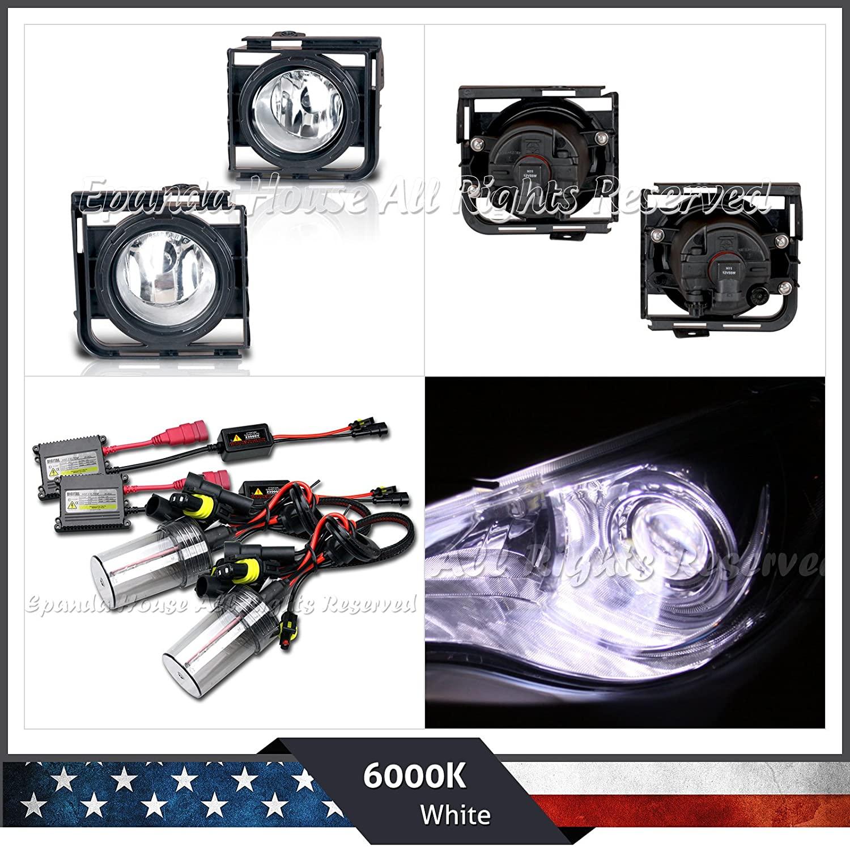 EpandaHouse Fog Lights Assemblies Made for 11-15 Scion Xb 2Nd Gen JDM Clear Lens USA s+6000K White Ac HID Kit
