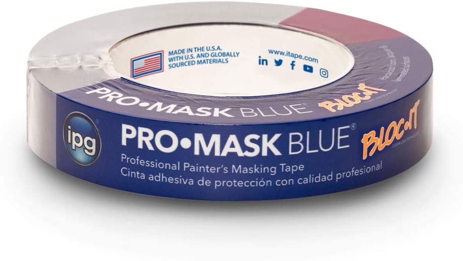 IPG ProMask Blue with BLOC-It, Premium 14-Day Masking Tape, 0.94
