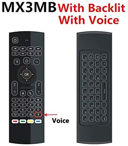 Calvas MX3 Air Mouse 2.4G Wireless mini keyboard with Voice Remote Control IR learning Gyroscope For Android TV Remote T9 TV BOX - (Color: MX3 Backlit Voice)