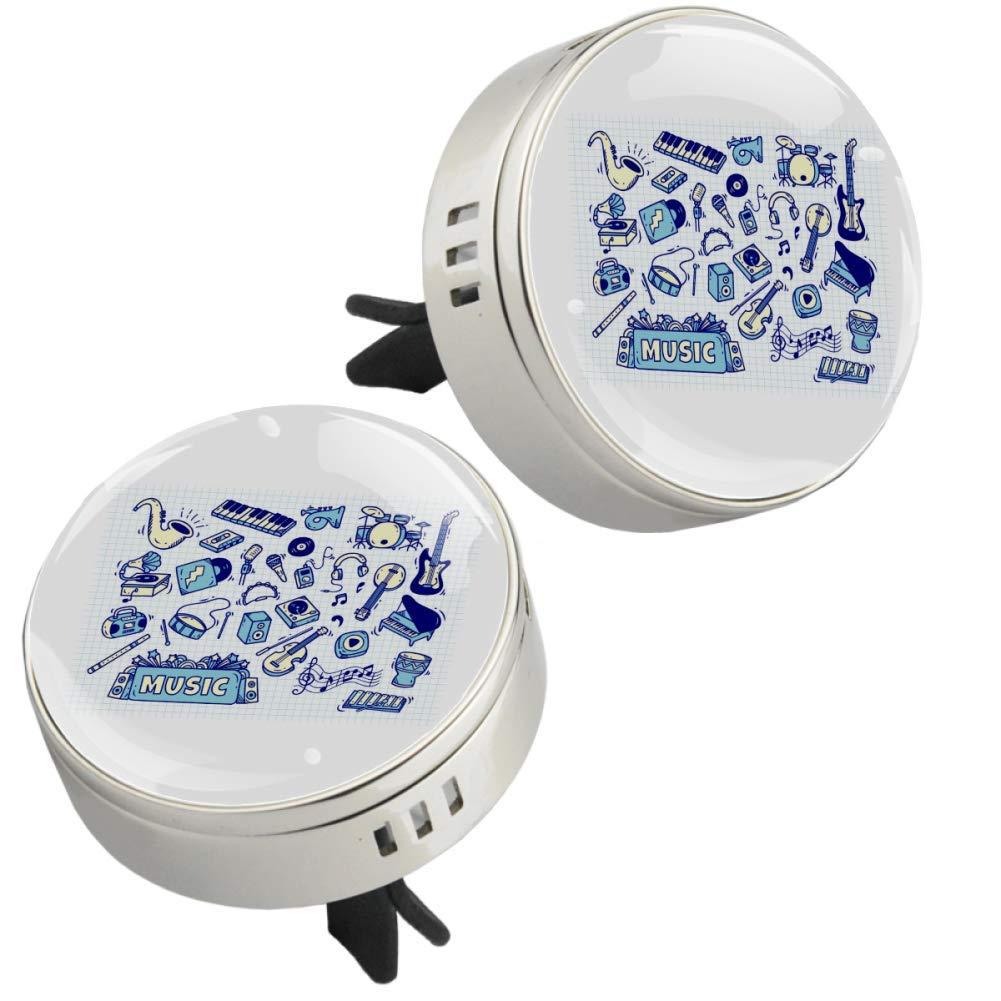 Blue-Instruments Car Perfume Car Air Freshener Vent Clip Fragrance Car Smell Airfreshener Perfume Diffuser
