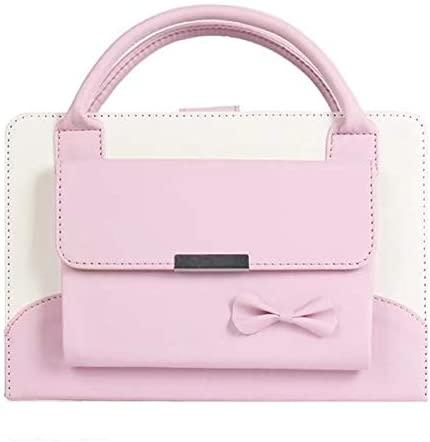 iPad Mini 5 2019 Case - 5th Generation iPad Mini Case - iPad Mini 4 Case - Albc Cute Handbag Premium Leather Stand Cover Case with Auto Wake/Sleep Feature for 7.9 inch Apple iPad Mini 5/4/3/2/1,Pink