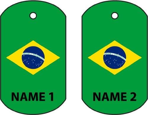 Personalized Brazil Dog Tag Car Air Freshener