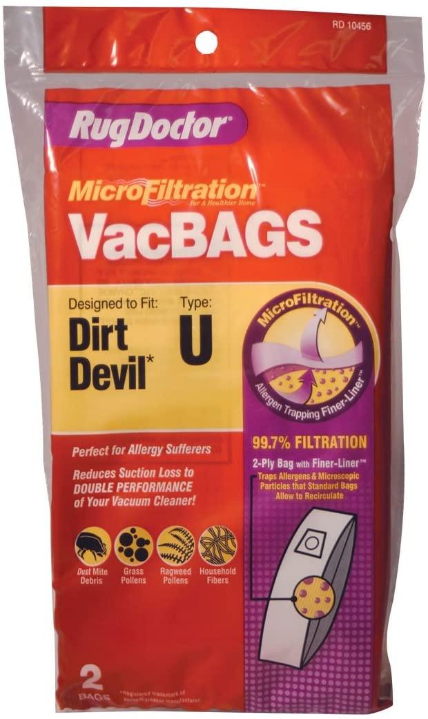 Dirt Devil U Replacement Vacuum Bags | Rug Doctor VacBAGS