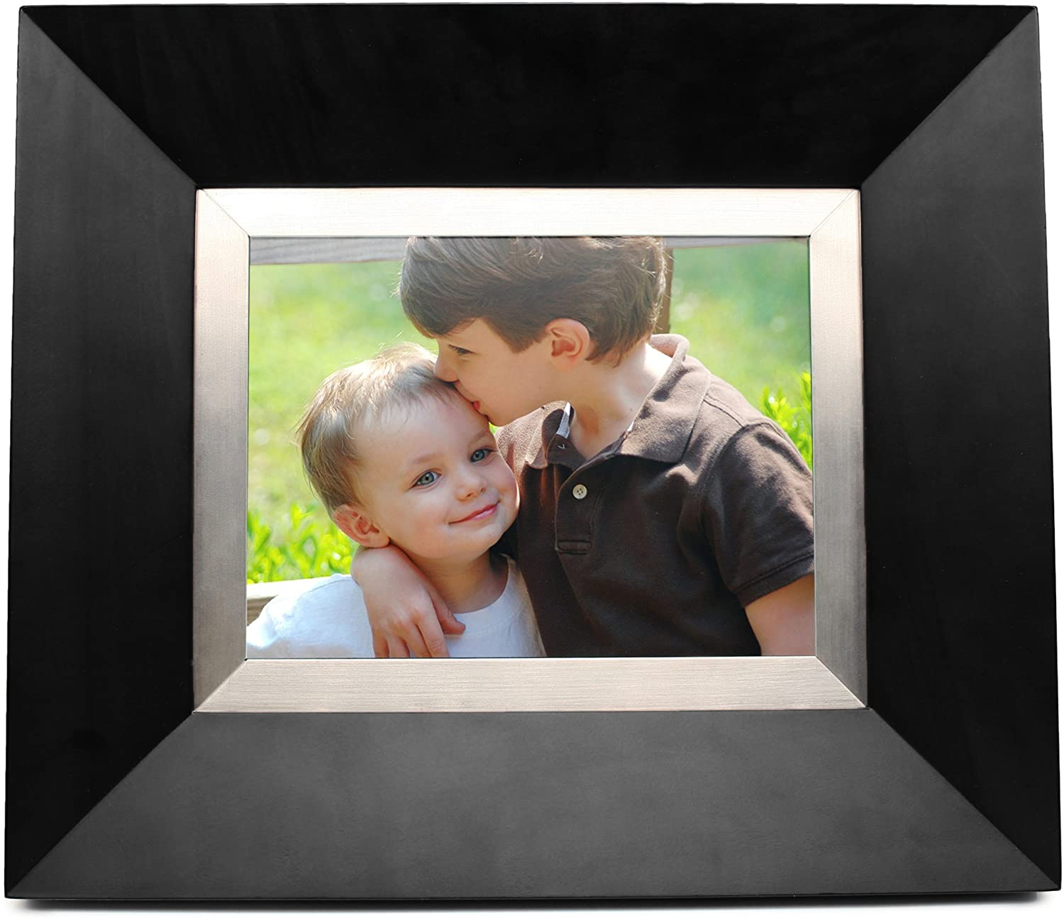 Cagic C8-BLACK 8.4-Inch TFT LCD Digital Picture Frame with TrueVu (Black Wood)