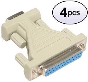 GOWOS (4 Pack) DB9-M/DB25-F Serial Adapter, Thumbscrew(DB25)/Thumbscrew(DB9)