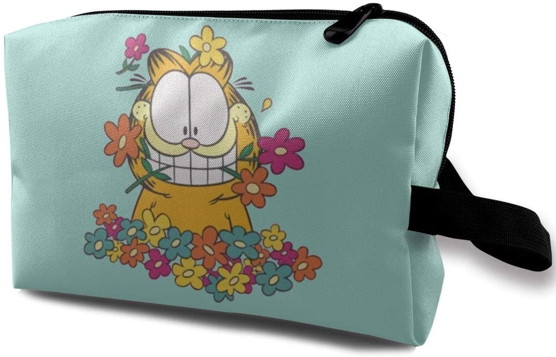Deffet Garfield in The Garden Newspaper Comic Toiletry Travel Cosmetic Bag Wash