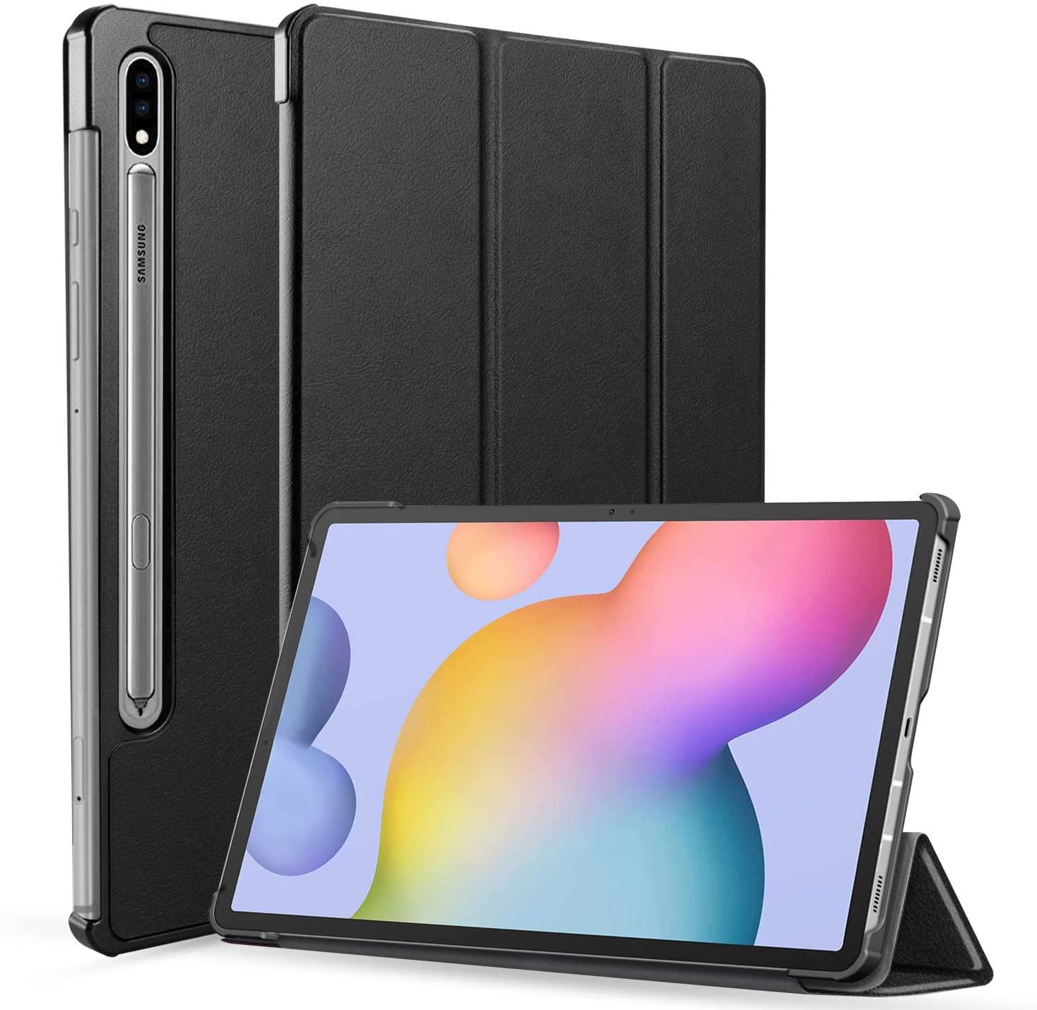 Neepanda Case for Samsung Galaxy Tab S7 11 Inch 2020, Slim Tri-Fold Shell Case Cover for Samsung Galaxy Tab S7 11 Inch 2020 Release Model SM-T870(Wi-Fi) SM-T875(LTE), [Auto Wake/Sleep] - Black