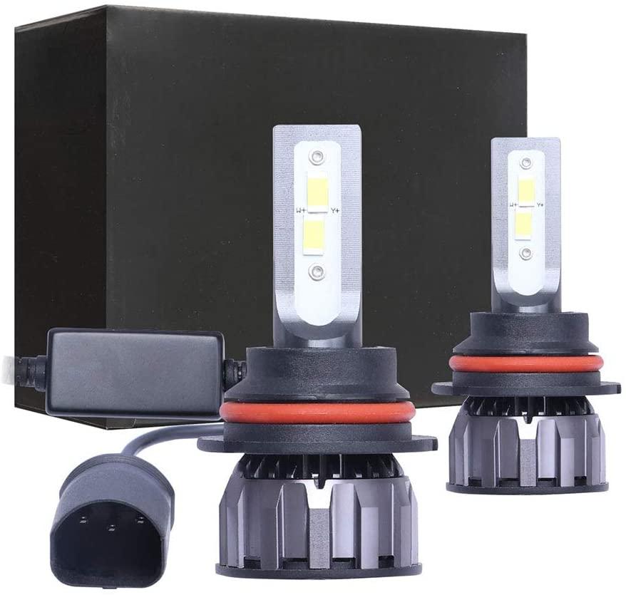 ANJING 9007 Car LED Headlight Bulbs,6500K 9V-16V 64W 8400LM,All-in-One Conversion Kit(2Pcs)