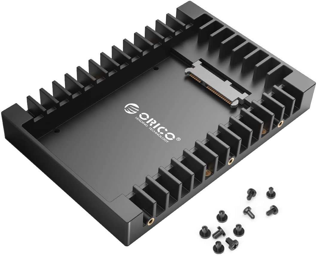 ORICO 2.5 SSD SATA to 3.5 Hard Drive Adapter Internal Drive Bay Converter Mounting Bracket Caddy Tray for 7 / 9.5 / 12.5mm 2.5 inch HDD / SSD with SATA III Interface
