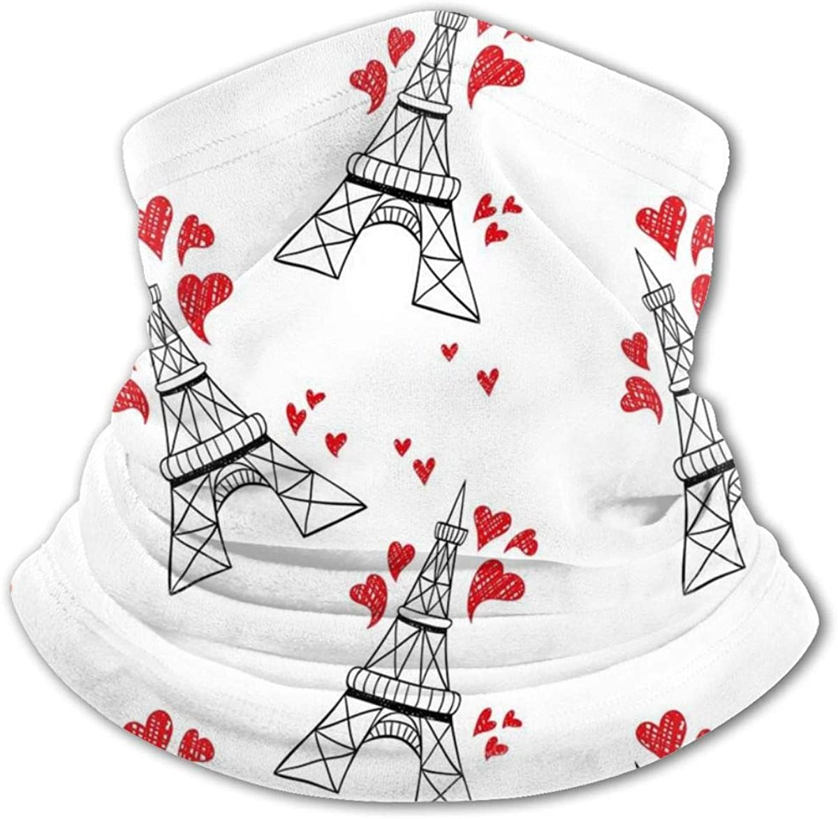 Eiffel Tower Headwear For Girls And Boys, Head Wrap, Neck Gaiter, Headband, Tenn Fishing Mask, Magic Scarf, Tube Mask, Face Bandana Mask For Camping Running Cycling