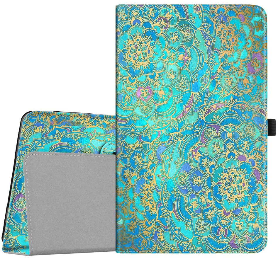 Fintie Case for Barnes & Noble Nook 10.1 Tablet, Premium Vegan Leather Folio Stand Cover with Auto Wake and Sleep for Nook 10.1 Inch Model BNTV650 Tablet, Shades of Blue