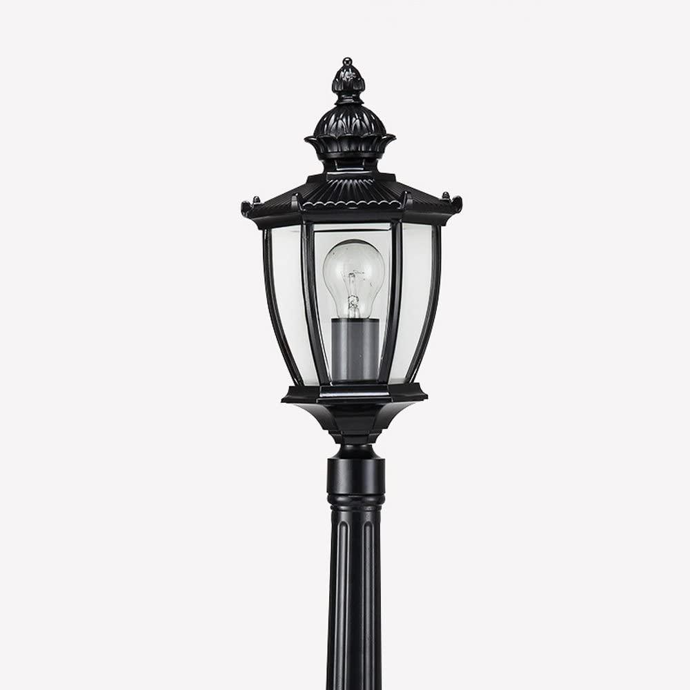 Vampsky European Glass Post Lamp, Traditional Victorian Outdoor Garden Street Post Light Retro Antirust Patio Balcony Column Lamp Lawn Villa Park E27 Decoration Aluminum Metal Street Floor Light