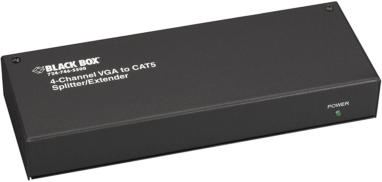 Black Box 4-Channel Mini CAT5 VGA Splitter/Extender Transmitter