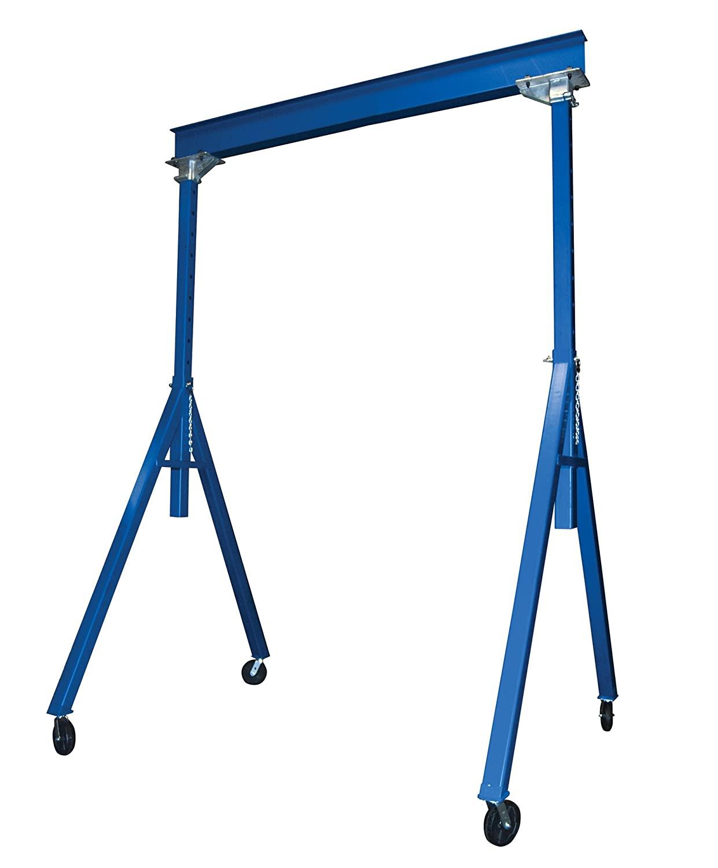 Vestil AHS-4-15-16 Steel Adjustable Height Gantry Crane, 4000 lbs Capacity, 15' Length x 8