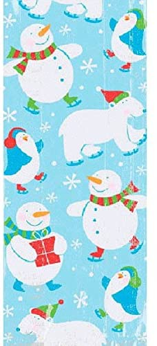 Christmas Polar Pals Multicolored Plastic Party Bags, 20 Ct. | Supply
