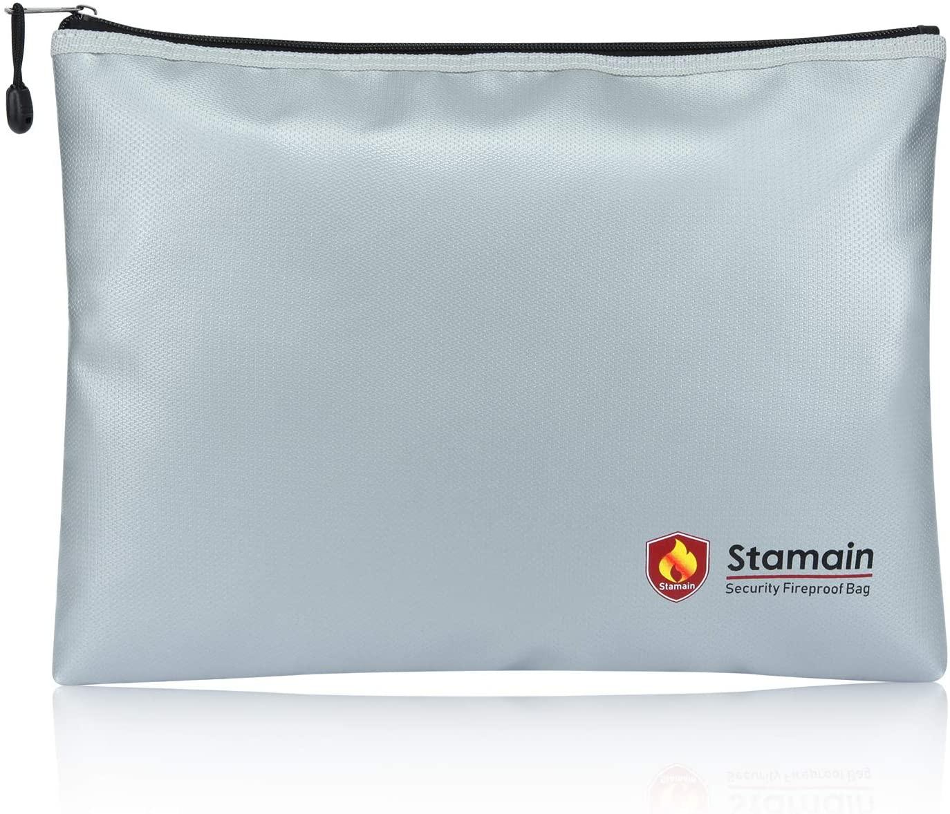 Fireproof Safe Document Bag, Large Fireproof Bag(13.4