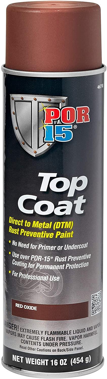 POR-15 46718 Top Coat Red Oxide Spray Paint 16 fl. oz.