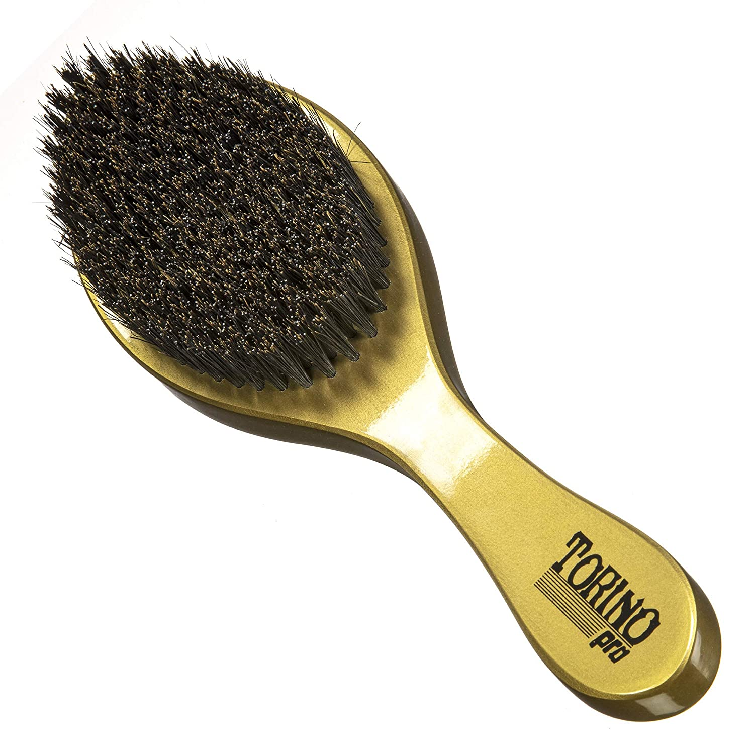 Torino Pro Wave Brush #970 By Brush King - Medium Hard Curve 360 Waves Brush - Great for Wolfing (360 Waves Brushes)