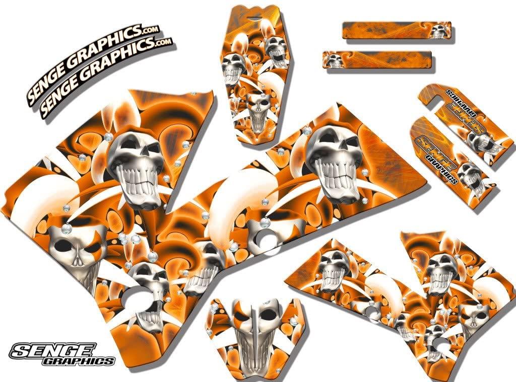 Late 2001 SX (Has the same plastics as the 2002 SX 250), Jester Orange Base Senge Graphics kit, Compatible with KTM