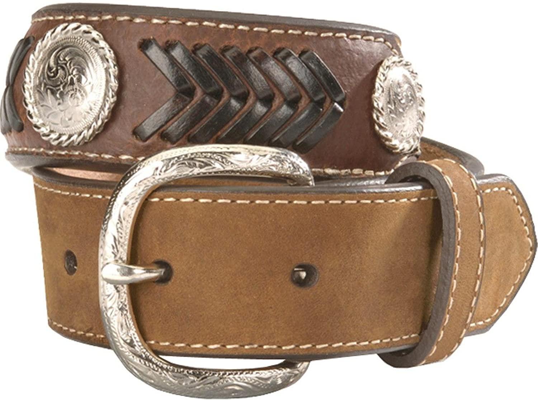 M&F Western Boy's Nocona Ribbon Belt (Little Kids/Big Kids) Brown 28