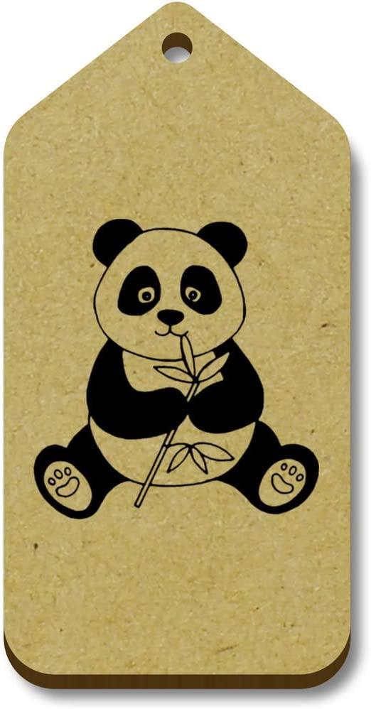 Azeeda 10 x 'Panda Eating' 66mm x 34mm Gift Tags (TG00002701)