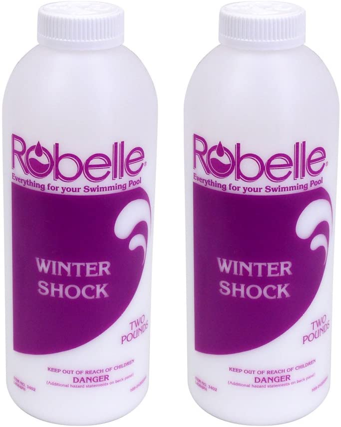 Robelle 3402-02 Winter Pool Closing Shock for Swimming Pools 2-Pounds, 2-Pack