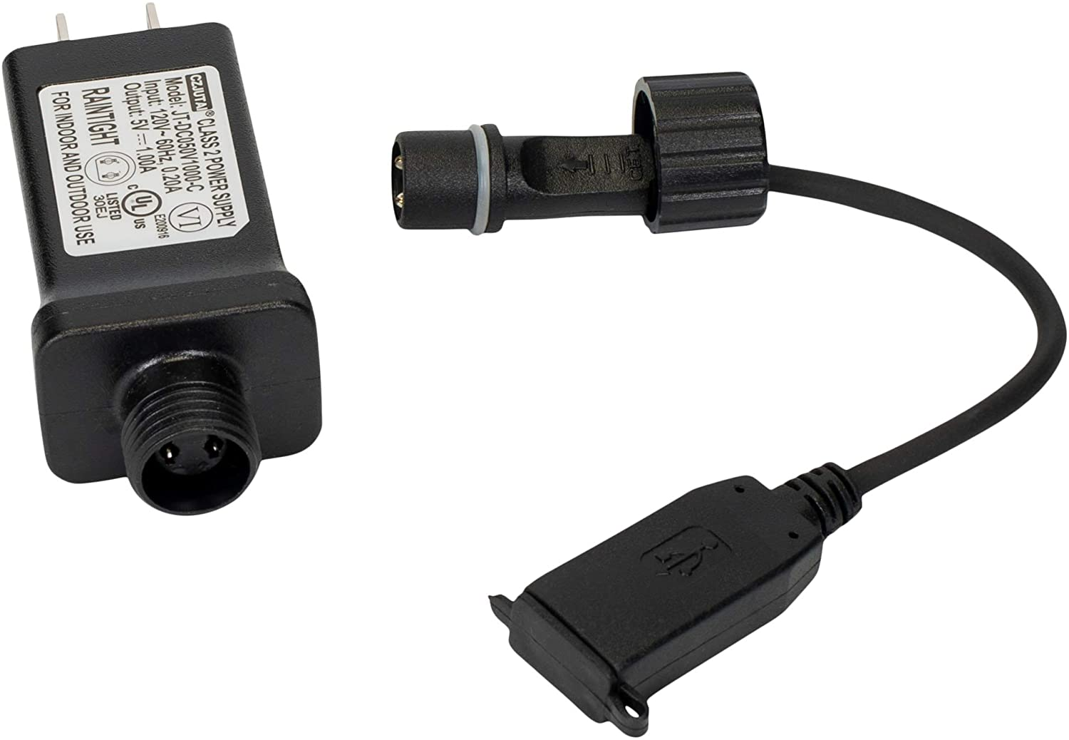 Roman USB UL Plug Adaptor Indoor/Outdoor IP44 5V